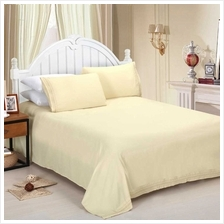 Shads Embroider Cording 4Pcs Bedding Set Fitted Sheet Bed Cover Pillow