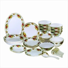 48 PCS Vintage Roses Dinnerware Set
