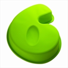 BAKECRAFT Silicone Cake Mould Number 6 - Green