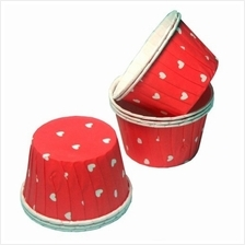 Laminated Heart Shape Solo Cup (100 PCS)