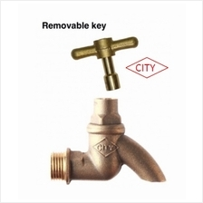 City loose removable key water Tap brass bib tap 1/2 ""