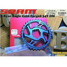 SRAM Chainring X-Sync Eagle Cold Forged 34T DM 3mm Offset Boost