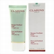 Clarins Truly Matte Pure & Radiant Mask With Pink Clay 50ml 1.7oz