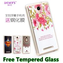 Xiaomi Redmi Note 3 Note3 3D TPU+PC Case Cover Casing + Tempered Glass