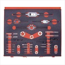 SHERWOOD M2-M16 37-PCE HSS THREADING SET IN CASE