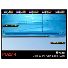 PU2614 Perodua Bezza PU Side Skirt With Logo (Gear UP) OE