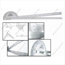 Stainless Lengthen Twin Handle Protractor Angle Gauge 600mm (PS5007)
