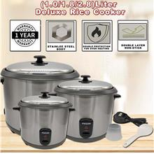 Phison Stainless Steel/Non Stick Deluxe Rice Cooker (1.0L/1.8L/2.8L)