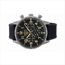 SEIKO Men Chronograph Stainless Steel Black Strap Watch SSB367P1