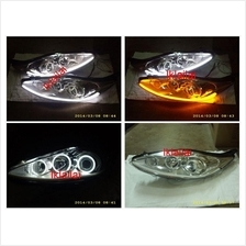 Ford Fiesta  09 6-CCFL Projector Head lamp Chrome 2-Function DRL