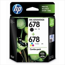 GENUINE HP 678 BLACK + COLOR VALUE COMBO INK CARTRIDGE (L0S24AA)