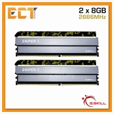 G.Skill Sniper X 16GB (8GBx2) DDR4 2666MHz Gaming Desktop/PC RAM (F4-2