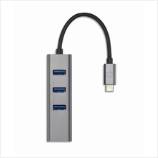 PEPPER JOBS TYPE-C TO 3-PORT USB3.0 HUB WITH GIGABIT LAN (TCH-2)