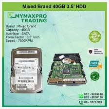 Mix Brand 40Gb 7.5Krpm 3.5' SATA HDD *bulk /wholesale available*