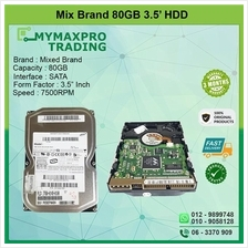 Mix Brand 80GB 7.5Krpm 3.5' HDD*bulk /wholesale available**