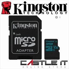 Kingston Canvas Go! MicroSD Memory Card for Action and Dash Cams 32GB/