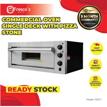 Commercial oven single deck with pizza stone