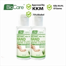 [Ready Stock] 2 x 60ml Biocare Instant Hand Sanitizer Liquid