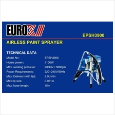 EuroX Airless Paint Sprayer EPSH3900