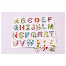 Wooden Puzzle  – Alphabet with Knob