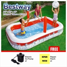 BESTWAY 54125 2.51m Inflatable Swimming Play Pool Volleyball