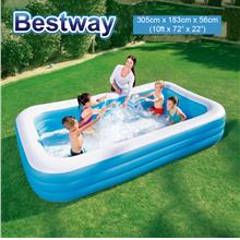 BESTWAY 54009 3.05m Inflatable Swimming Pool Extra Large 3 Layers