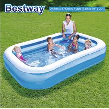 BESTWAY 54006 2.62m Inflatable Swimming Pool Large 2 Layers Rings