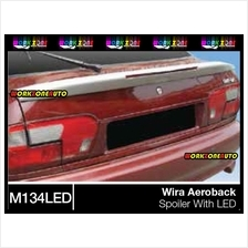 M134 LAMP Proton Wira Aeroback Fiber Spoiler With LED