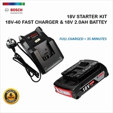 BOSCH 18V STARTER PACK WITH 1 X 2.0AH BATTERY  & 1 X CHARGER