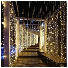 300pcs 3*3 meters Flexible LED Curtain Icicle String Lights