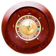 Brybelly Deluxe Wooden Roulette Wheel Set - Red/Brown Mahogany with Double-Zer
