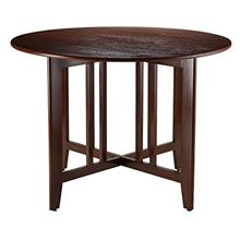 Winsome Wood Alamo, , Double Drop Leaf, Round Table Mission, Walnut, 42-Inch
