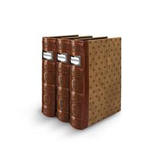 Bellagio-Italia Tuscany Cognac DVD Storage Binder Set - Stores Up to 144 DVDs,