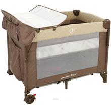 AkaranaBaby Aroha II Portable Playard Bassinet Diaper Changer Mocha Brown - AP)