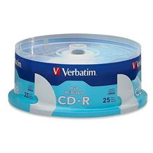 Verbatim Hub Printable 52X CD-R 700MB / 80Min (25 pcs)