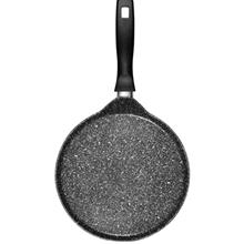 Stoneline 25Cm Crepe Pan H 1, 7cm with Wooden Crepe Roller & Unmounted Handle