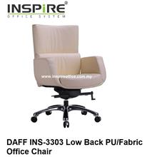 DAFF INS-3303 Low Back PU/Fabric Office Chair