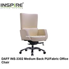 DAFF INS-3302  Medium Back PU/Fabric Office Chair