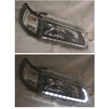 Toyota AE100 AE101 Black Crystal Headlamp w LED