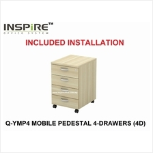 EXORA SERIES Q-YMP4 MOBILE PEDESTAL 4-DRAWERS (4D)