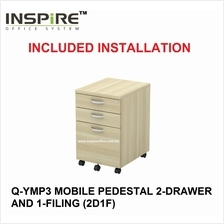 EXORA SERIES Q-YMP3 MOBILE PEDESTAL 2-DRAWER AND 1-FILING (2D1F)