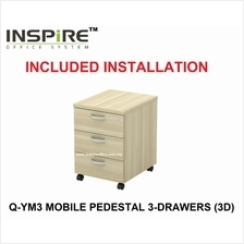 EXORA SERIES Q-YM3 MOBILE PEDESTAL 3-DRAWERS (3D)
