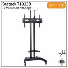 Brateck T1023B 37-70 inch Height Adjustable TV Cart Trolley Stand