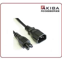 IEC-320 AC Power Cable C14 to C5 Cord 0.3m