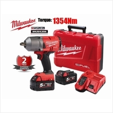 Milwaukee 18V FHIWF12-502X M18 Fuel High Torque Impact Wrench 1356Nm