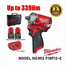 "Milwaukee 1/2 "" Cordless Stubby Impact Wrench M12 FIWF12-302"