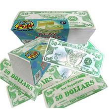 U.S. Toy Novelty Play Phoney 1000 Pack Money Fake $50 Dollar Bills