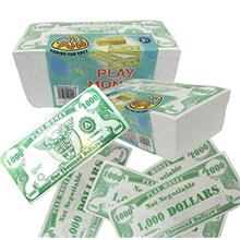 U.S. Toy Novelty Play Phoney 1000 Pack Money Fake $1000 Dollar Bills