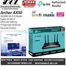 TP-LINK Archer AX50 AX3000 Dual Band Gigabit Wi-Fi 6 Router Unifi Time
