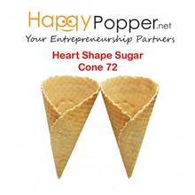 HEART SHAPE SUGAR CONE 72